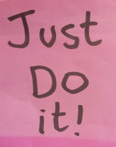 Academic Coach says Just do It!